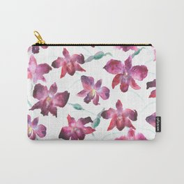 Hand drawn pattern Beautiful watercolor pink Orchid Carry-All Pouch