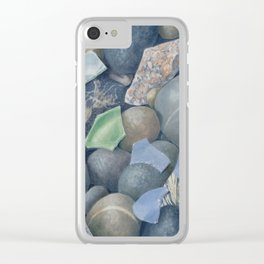 Sea Glass IV Clear iPhone Case