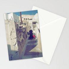 Streets of Santorini IV Stationery Cards