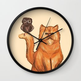 Crookshanks and Pigwidgeon Wall Clock
