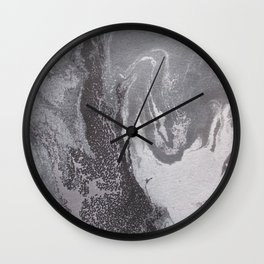 Acrylic marbling painting I Wall Clock