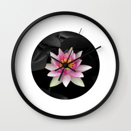 water lily abstract IV Wall Clock