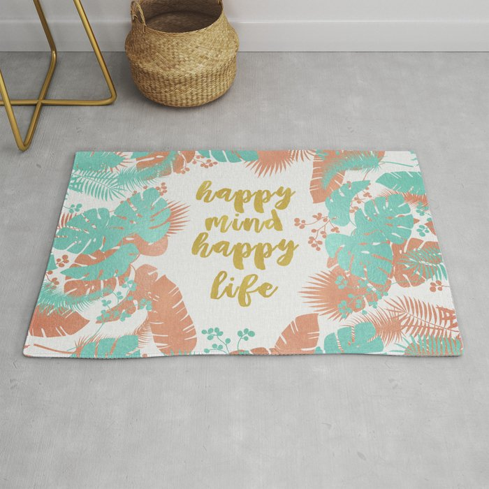 Happy Mind Happy Life Rug