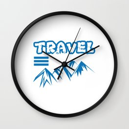 A Perfect Design for Traveling Buddies or Traveler and Travel Lover or Travel Addict T-shirt Design Wall Clock