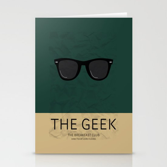 """""""The Geek"""" The Breakfast Club   Stationery Cards"""