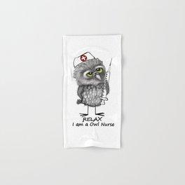 Owl Nurse Hand & Bath Towel