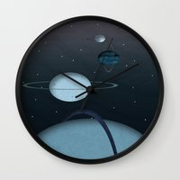 planets Wall Clocks featuring Planets by oldi