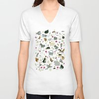 toddler V-neck T-shirts featuring Animal Chart by Yuliya