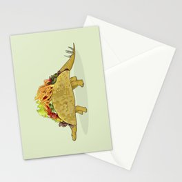 Tacosaurus - Taco Stegosaurus Dinosaur Stationery Cards