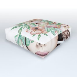 She Wore Flowers in Her Hair Island Dreams Outdoor Floor Cushion