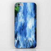 waterfall iPhone & iPod Skins featuring Waterfall by Paul Kimble