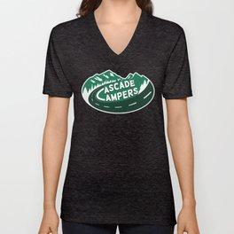 Cascade Campers Logo Unisex V-Neck