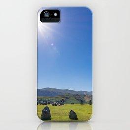 Castlerigg Stone Circle in English Lake District iPhone Case