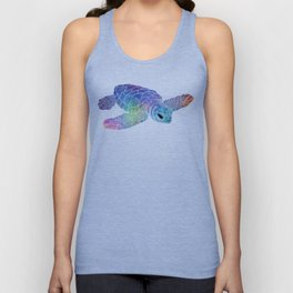 Colorful Sea Turtle I Unisex Tank Top