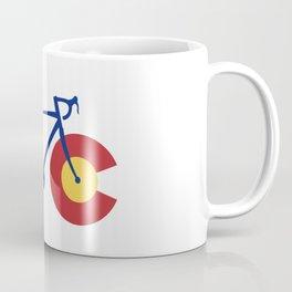 Colorado Flag Bicycle Coffee Mug