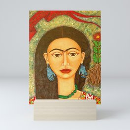 My homage to Frida Mini Art Print