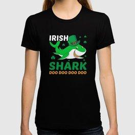 Irish Shark St. Patricks Day Funny T-shirt