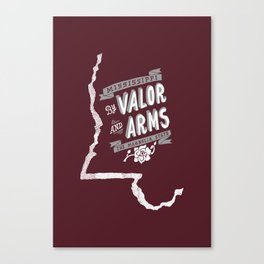 Mississippi Motto (Maroon) Canvas Print