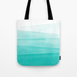 Mint Green Watercolor Ombré Dip Dyed Tote Bag