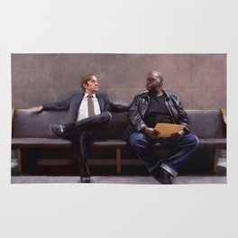 Jimmy McGill And Huell Babineaux From Breaking Bad And Better Call Saul Rug