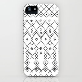 Boucherouite Black & White iPhone Case