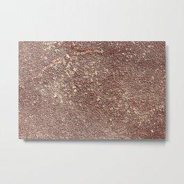 Burgundy Sandpaper Texture Metal Print