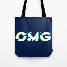 OMG (Glitch) Tote Bag