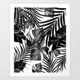 Tropical Jungle Leaves Pattern #10 #tropical #decor #art #society6 Art Print