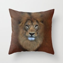 The Lion Known As King Of The Beasts Throw Pillow