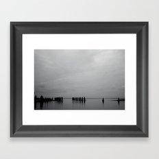Black and White Peer Framed Art Print