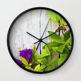 Beauty on Rustic Cedar Wall Clock