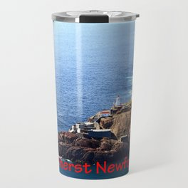 Canadian National Historical Site Fort Amherst and WWII bunkers Travel Mug