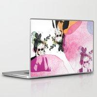 sunglasses Laptop & iPad Skins featuring Sunglasses by Lorene R illustration