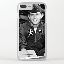 George W Bush in the Texas Air National Guard Clear iPhone Case