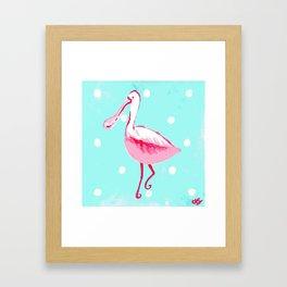 Pink Spoonbill Tropical Art Framed Art Print