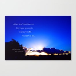 """""""Flickering Sunset"""" with poem: There Are Moments Canvas Print"""