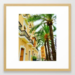 Old Town Ibiza Framed Art Print