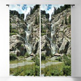 waterfall rope bridge kaunertal alps tyrol austria europe 2 Blackout Curtain