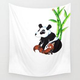 Panda Duo Wall Tapestry