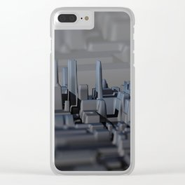 Urban technology buildings space aerial view Clear iPhone Case