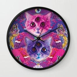 3rd eye tacocat Wall Clock