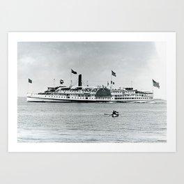 Bristol Steamship, Rhode Island Art Print