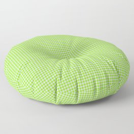 Chartreuse Gingham Floor Pillow