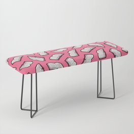 Reading Books pattern in Pink Bench