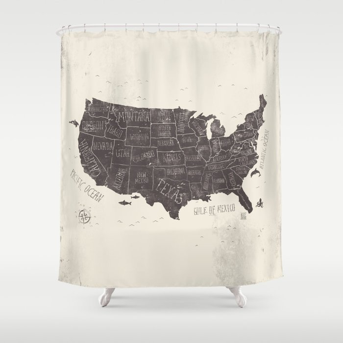Superbe USA Shower Curtain
