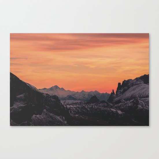 Pastel Sunset #mountains #society6 Canvas Print