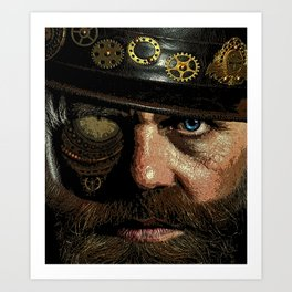 'Steampunk Gangster' Art Print