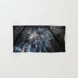 Black Trees Steel Blue Gray Space Hand & Bath Towel
