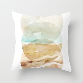 Abstract Beach - Circle Print Throw Pillow