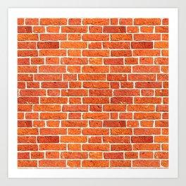 Brick wall patern Art Print
